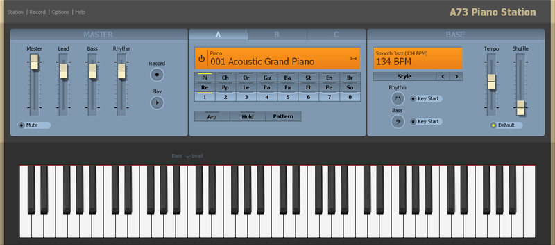 A73 Piano Station full screenshot