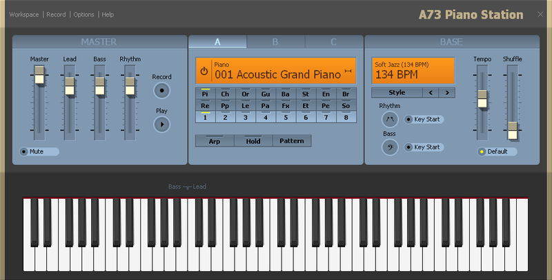 A73 Piano Station freeware